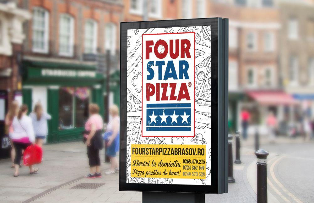 Vizual Four Star Pizza Brasov