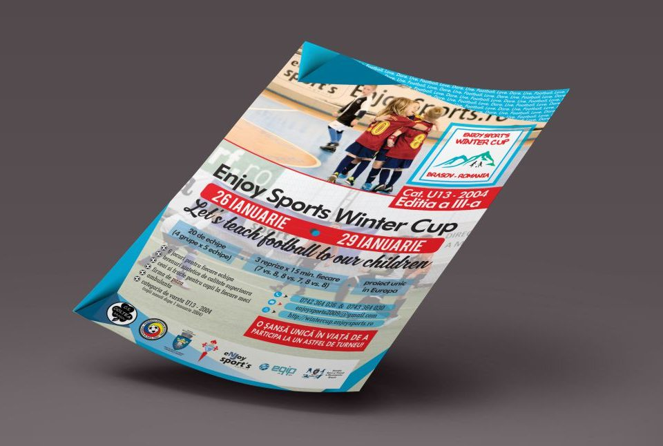 Afis Promovare Enjoy Sports Winter Cup