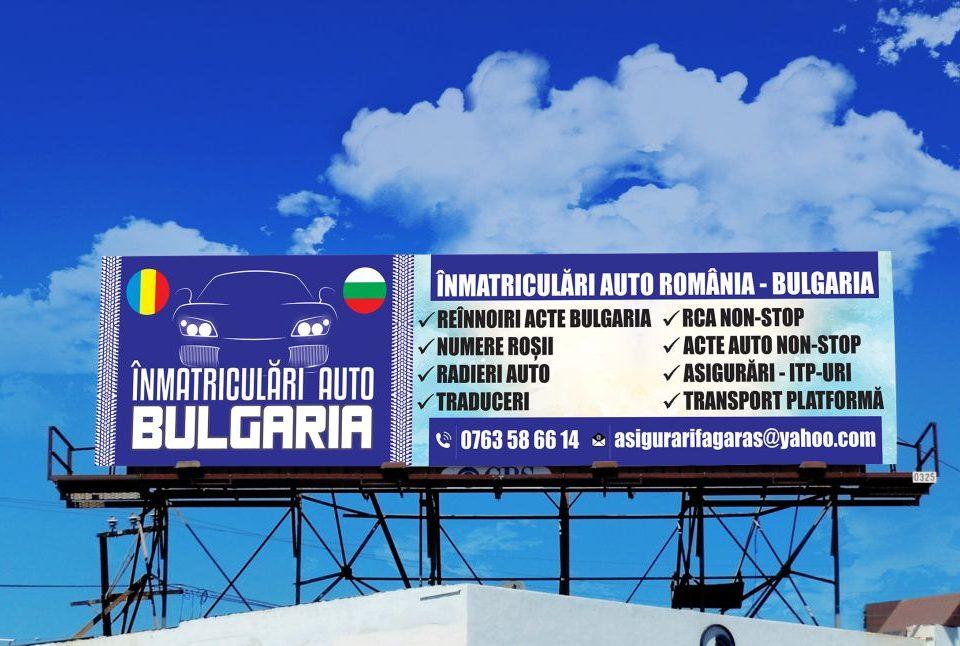 Grafica - Design Banner Outdoor - Inmatriculari Auto Bulgaria