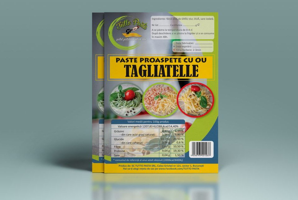 Grafica - Design Eticheta de Produs - Paste De Casa Tutto Pasta