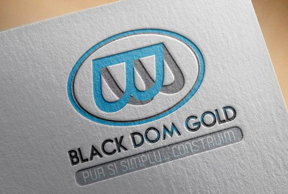 Logo Black Dom Gold - Firma Constructii